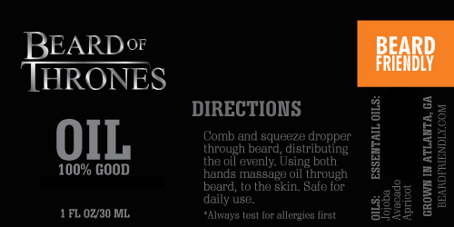 "Limited Edition ""Beard Of Thrones - North of the Wall"" Beard Oil"