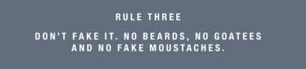 movember rule 3 no beards